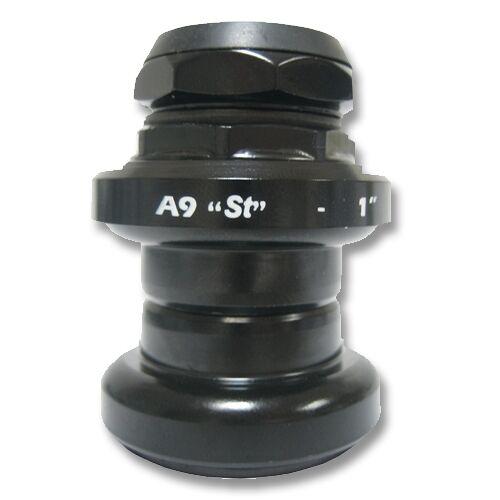 "Stronglight A9 1"" Threaded Steel Road Bike Headset - Black"