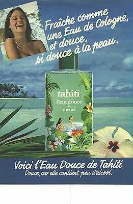 Publicite Advertising 1981 Tahiti Eau Douce De Tahiti Collectibles Eau De Cologne Less Expensive