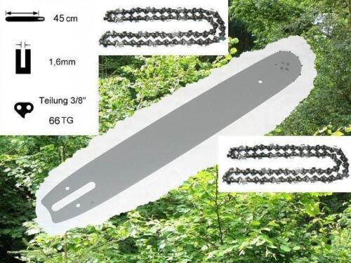 45cm Schwert Schiene 2 Ketten passend f Stihl 046 MS460