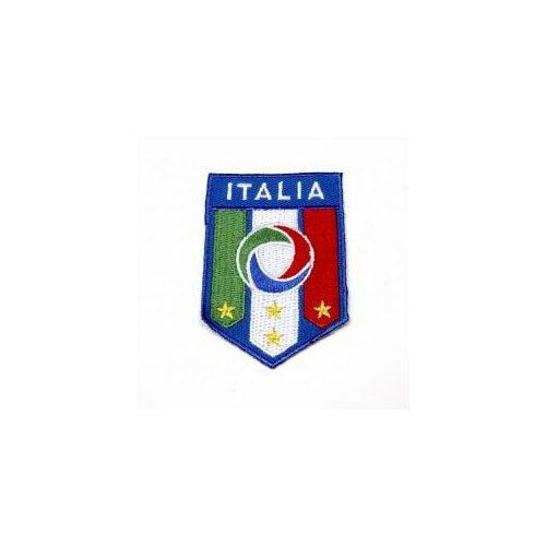 ITALIA ITALY 4 STARS FIGC. COUNTRY FLAG IRON-ON PATCH CREST BADGE 3.5X2.5 INCH