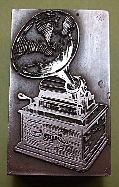 """""""edison Phonograph"""" Printing Block."""