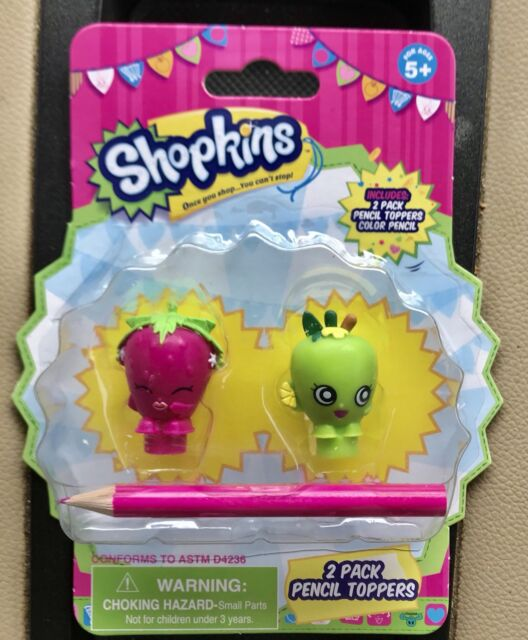 Shopkins matita topper Strawberry Kiss e Apple Blossom