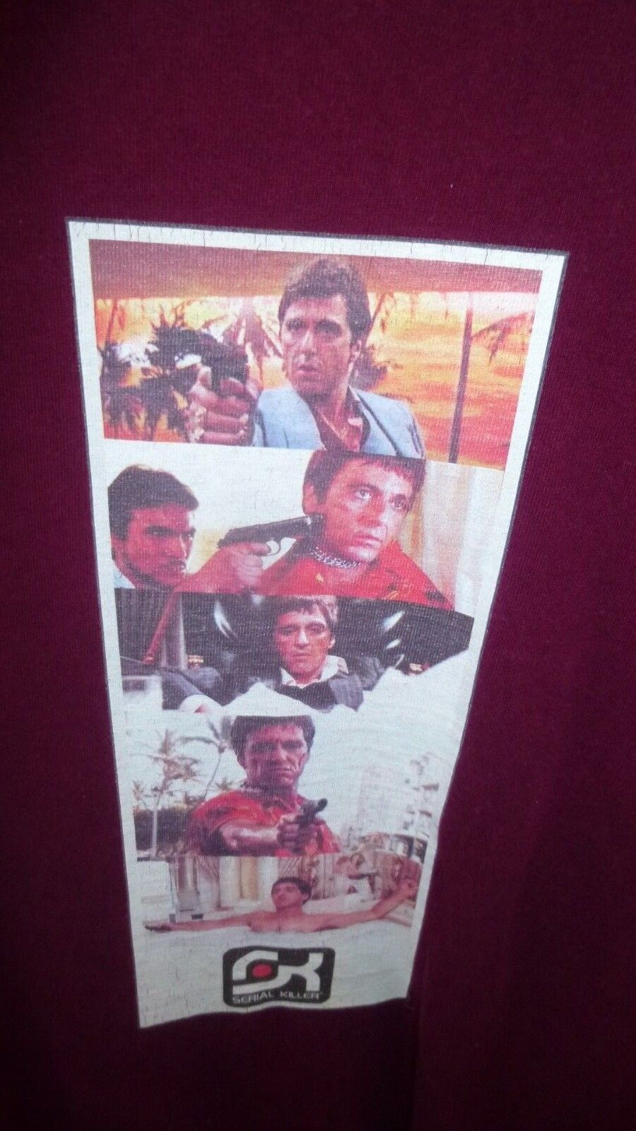 UNIQUE FROM MID 80's SCARFACE Tony Montana T-Shirt Size Large By SERIAL KILLER