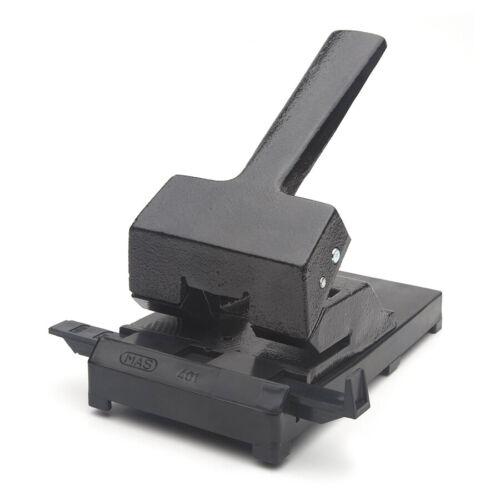 schwarz mit Anschlagschiene 60 Blatt MAS 401 Locher aus Eisen