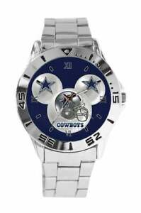 NFL-Dallas-Cowboys-Mens-Watch-Stainless-Steel-Band