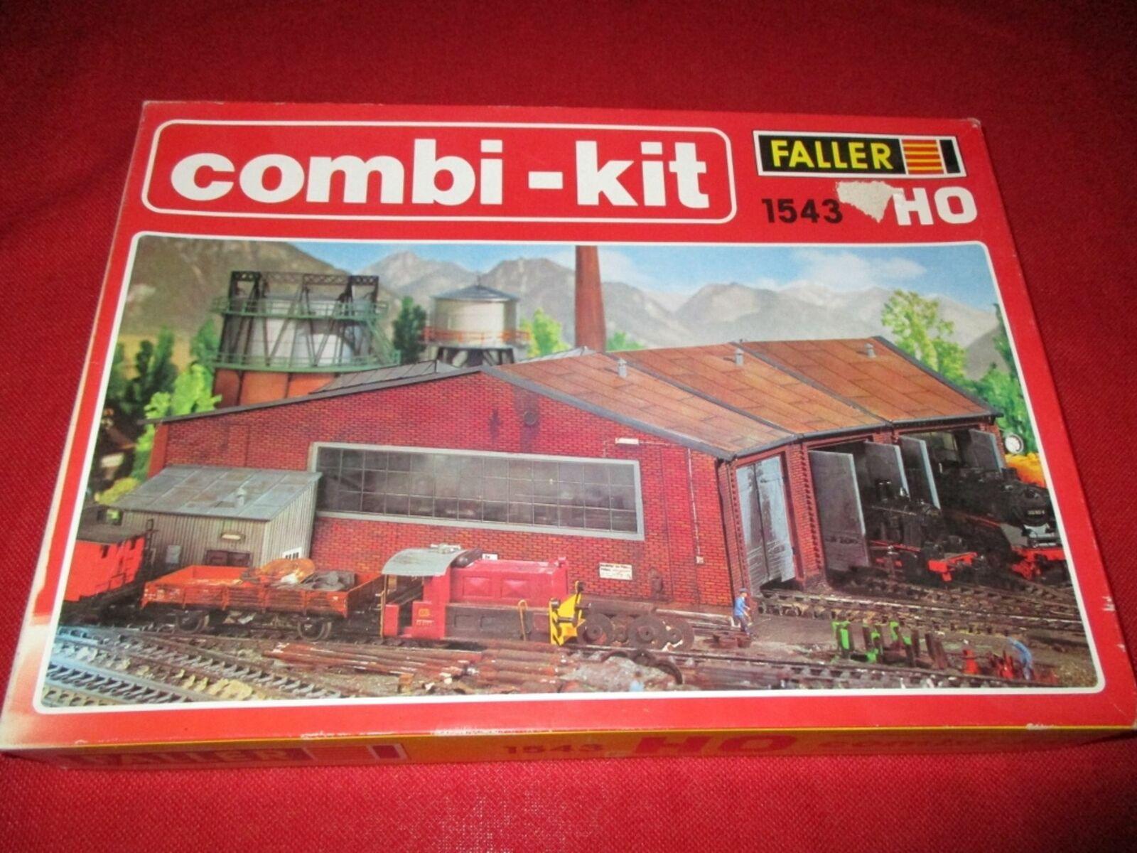 Faller h0 1543 combi-kit ringlokschuppen nuevo embalaje original