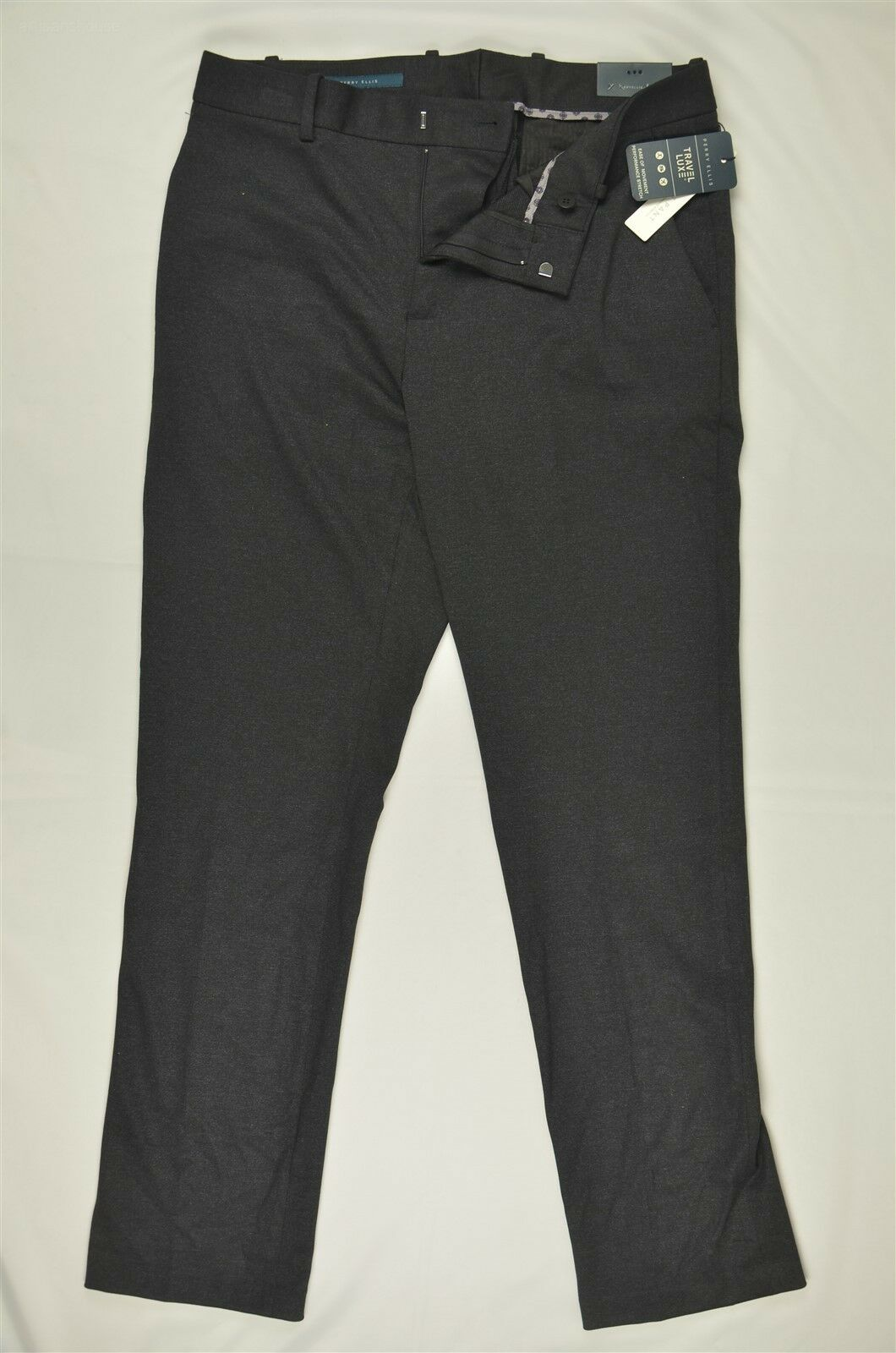 NEW MEN'S Perry Ellis Travel Luxe Flat Front Dress Pants 33x32