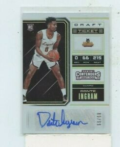 DONTE-INGRAM-2018-19-Panini-Contenders-Draft-Ticket-Auto-Autograph-D-99-Loyala