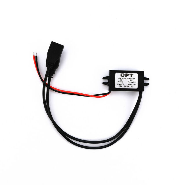 CUTE Auto 12V To 5V 3A 2 USB DC Converter Charging Charger Recorder.