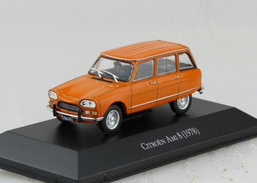 CITROEN AMI 8 Orange 1978 Blister 1:43 Salvat IXO voiture miniature
