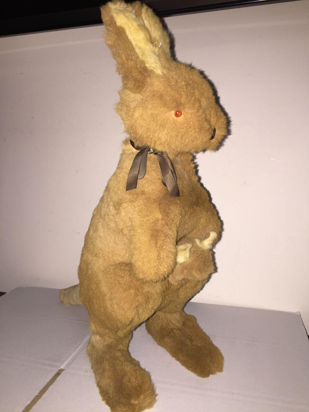 Vintage CANGURO Plush Kangaroo di Peluche 40 cm