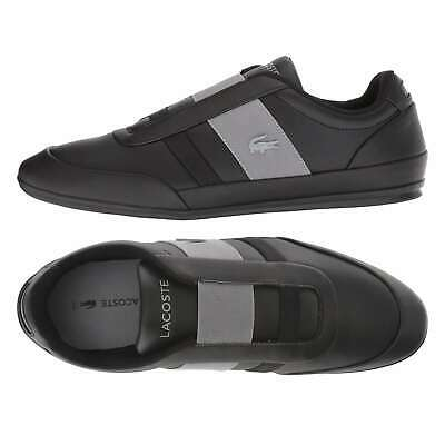 NEW Lacoste Men's Fashion Shoes Misano Elastic Slip On Leather Sneakers