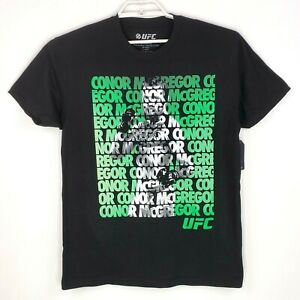 UFC-Conor-Mcgregor-Mens-Size-S-Black-Fight-MMA-Short-Sleeve-Graphic-T-Shirt
