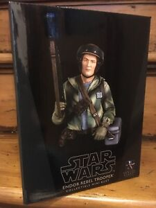 Gentle Giant Star Wars Endor Rebel Trooper Collectible 1//6 Scale Mini Bust NEW