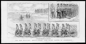 1887-Antique-Print-HAMPSHIRE-Aldershot-Military-Multi-cycle-Infantry-64