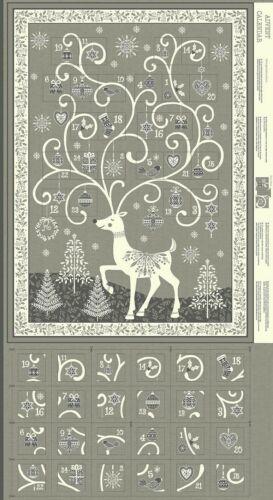 Makower Scandi Advent Panels Christmas Stockings /& Advent Calendar Xmas 2019
