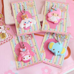 Hello-Kitty-My-Melody-Cinnamoroll-Little-Twin-Star-Key-Cap-Cover-Chain-Keyring