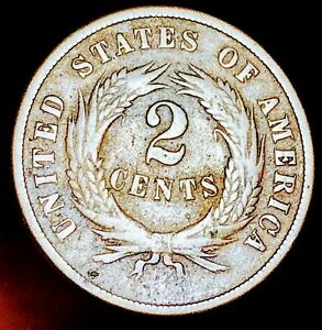 1869-Two-Cent-Piece-2C-High-Grade-Details-Civil-War-Era-US-Copper-Coin-CC4869