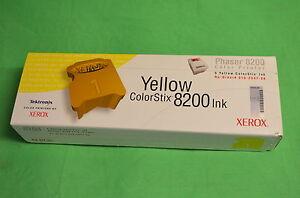 XEROX-COLORSTIX-PHASER-8200-016-2047-00-GIALLO-Qta-5-genuino-originale