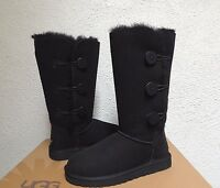 UGG Bailey Button Triplet Chocolate Sheepskin Women's Boots Size 7 B - Medium Shoes