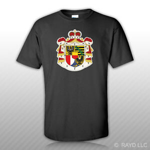 Liechtensteiner Coat of Arms T-Shirt Tee Shirt Free Sticker Liechtenstein flag
