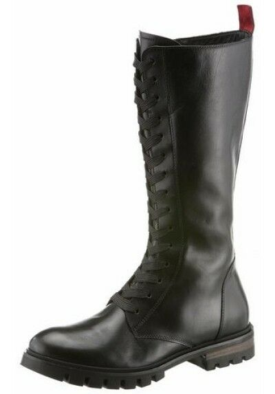 Stiefel, Schnürstiefel, Damenschuhe Carolina, aus Leder, Gr.39,39,5