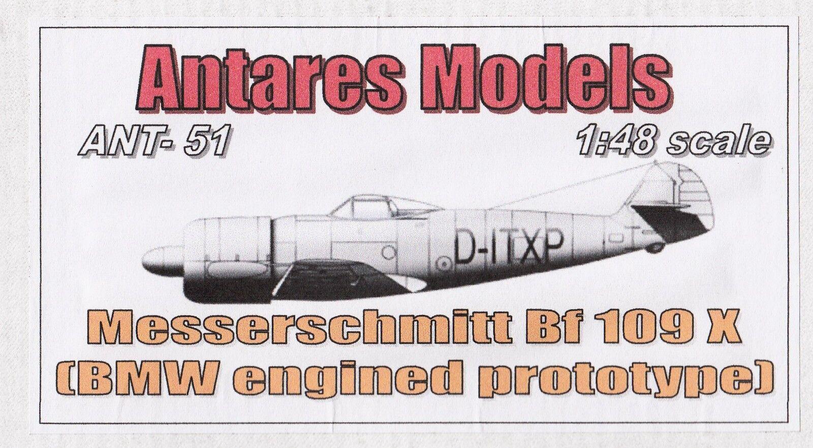Ant4851  ANTARES - Messerschmitt Bf-109 X - Resin - 1 48 - SELTEN    Hohe Qualität