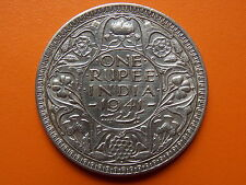 "George VI King Emperor One Rupee ""1941"" Bombay Mint Original Silver Coin"