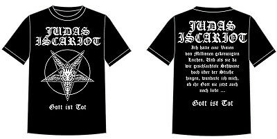 Judas Iscariot - Gott Ist Tot T-Shirt (S,M,L,XL,XXL,XXXL),Nachtmystium,Krieg