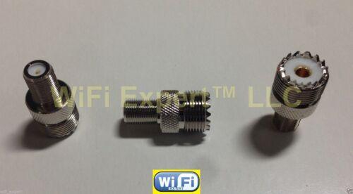 4pc SET UHF to F TV Male Female Jack Plug RF coaxial Adapters RF Connector USA