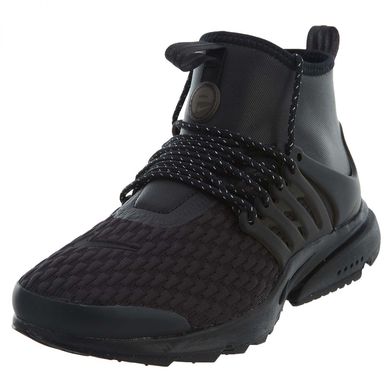 Nike Air Presto Mid utilidad Premium Mujer Mujer Premium AA0674-003 Negro Blanco Zapatos 7dabde