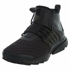 quality design e7421 0dfc5 Details about Nike Air Presto Mid Utility Premium Womens AA0674-003 Black  White Shoes Size 11