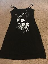 Nice women's junior's size S Small Forever 21 black floral mini dress outfit