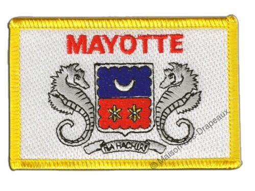 Écusson brodé drapeau France Mayotte mahorais 5x8cm Thermocollant