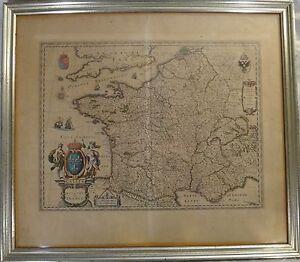 Original old world map kingdom of france mid 17th c w j image is loading original old world map kingdom of france mid gumiabroncs Choice Image