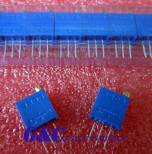 50pcs 3296W-501 3296 W 500R ohm Trim Pot Trimmer Potentiometer