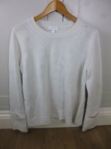 THE-WHITE-COMPANY-CREAM-IVORY-JUMPER-WOOL-CASHMERE-CREW-NECK-SIZE-16