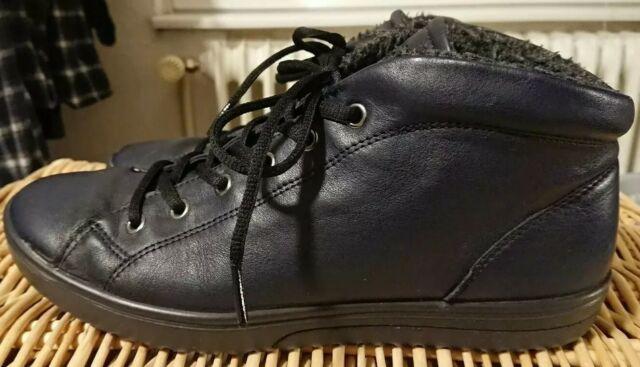 ECCO FARA Damen Sneaker high Schuhe Gr. 41 Leder blau nightsky gefüttert TOP