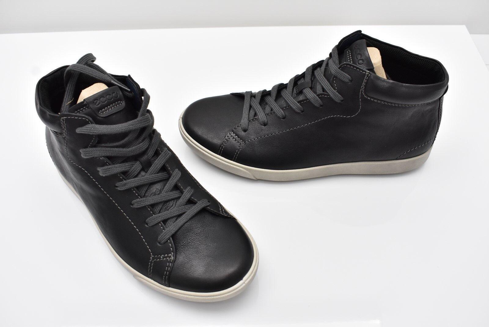 ECCO Gary Low Cut Lace Black black Leather shoes US 7-7.5 EU 41