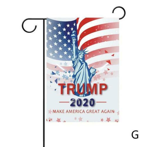 Trump 2020 Flagge MAGA Banner Garden Unterstützung Yard Flag Trump Outdoor N5S1