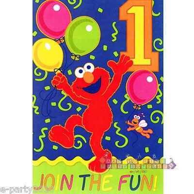 8 ~ Birthday Party Supplies Stationery Cards SESAME STREET Stars INVITATIONS