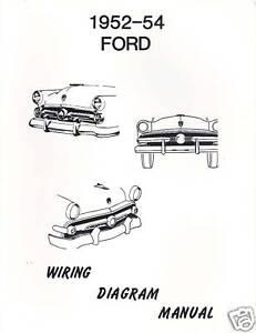 1952-54 FORD WIRING DIAGRAM MANUAL | eBay