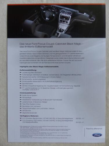 FORD FOCUS COUPE-CABRIO BLACK MAGIC Limited Edition-prospetto brochure 02.2008