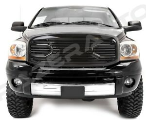 06-09-Dodge-RAM-Front-Hood-Gloss-Black-Big-Horn-Replacement-Grille-Black-Shell