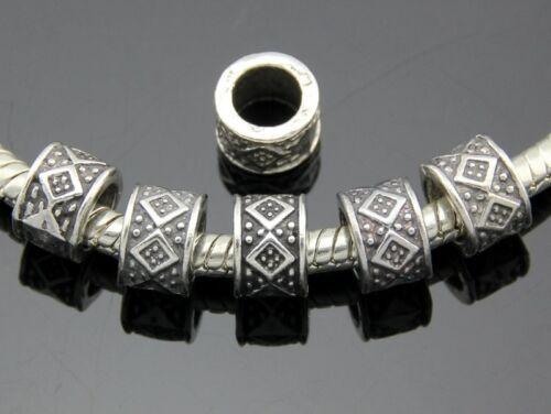 Free Ship 60pcs Tibetan Silver Charm Beads Fit Bracelet ZY146