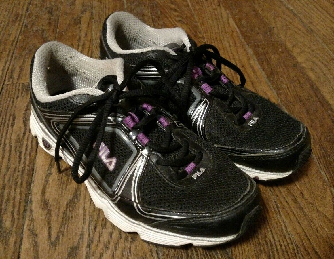 Fila Women's Running Shoes Black/Gray/Purple Comfortable The most popular shoes for men and women