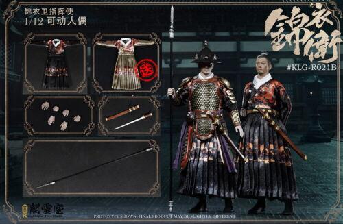 KLG-R021B 1//12 Scale Palace Guard Jin Yi Commander Action Figure