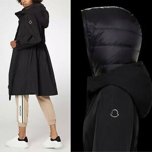 $1770 Moncler AUTH NEW 3 Styles-In-1 Hooded Parka Trench + Puffer Gilet 3 Batz