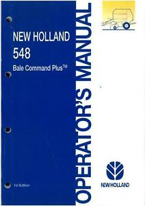 new holland 548 bale command plus operators manual original gtc w rh ebay ie new holland bale command plus monitor manual Owner Manuals New Holland