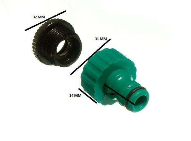 Quick fix snap fit garden tap to hose connector & reducer pack of 100
